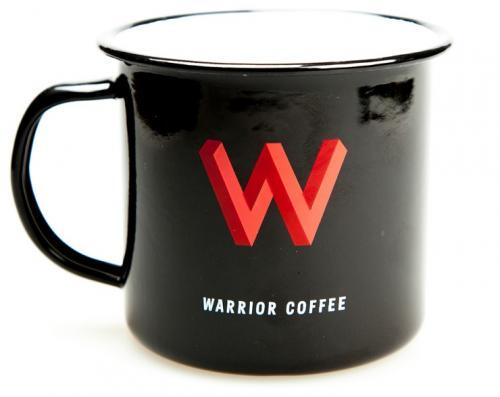 Warrior Coffee enamel mug