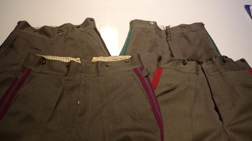 Finnish M/36 diagonal wool trousers, with piping, surplus.