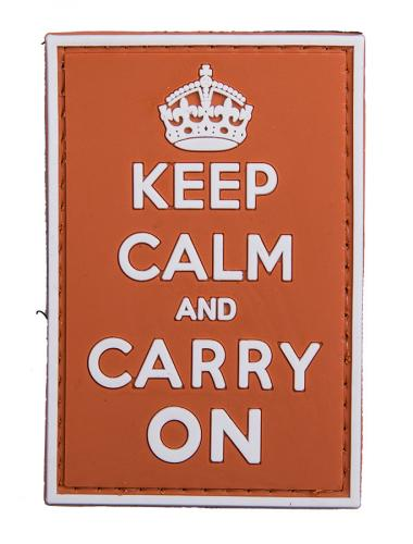 Keep Calm and Carry On PVC morale patch