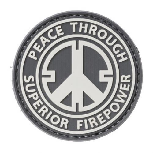 Peace Through Superior Firepower PVC morale patch
