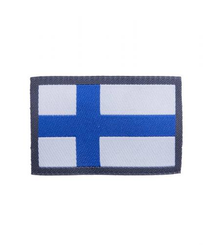 Finnish flag patch, sew-on model
