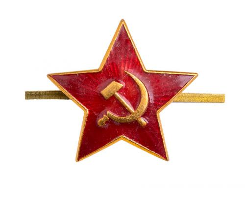 Soviet enlisted mens red star cockade
