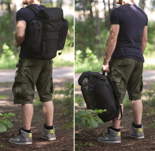 British patrol backpack, 30 litres, black, surplus.