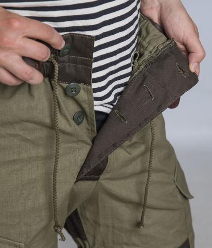Tactic-9 Gorka field trousers, brown. Just cords and buttons on the fly.