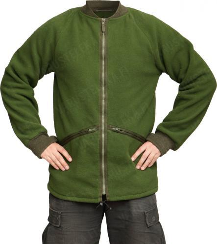British CS95 fleece jacket, olive green, surplus