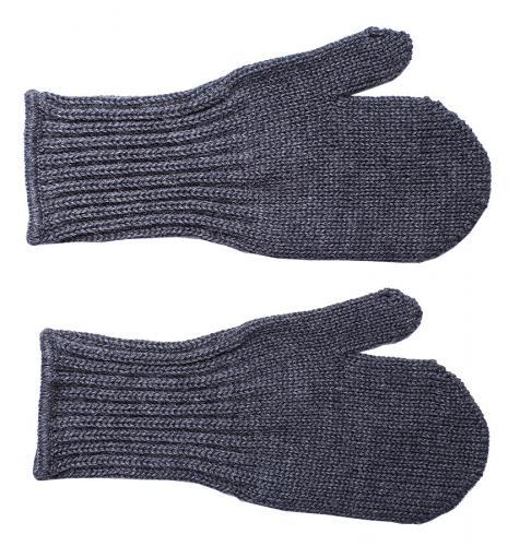 Särmä Kids' Merino Wool Mittens, Dark Grey