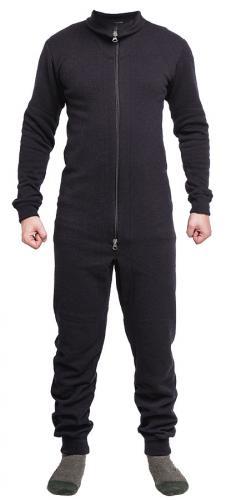 Särmä merino wool terry overall, black