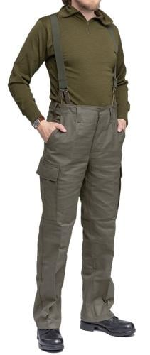 BW Moleskin trousers. Worn here with Bundeswehr trouser suspenders.
