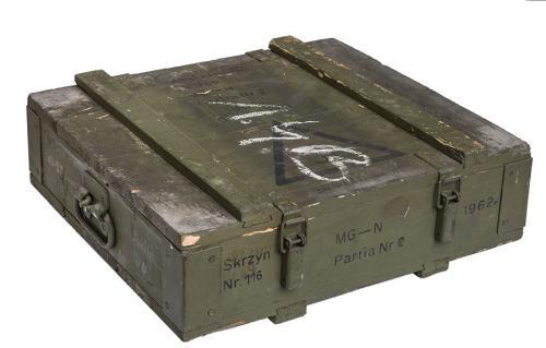 Polish MG57 crate, surplus