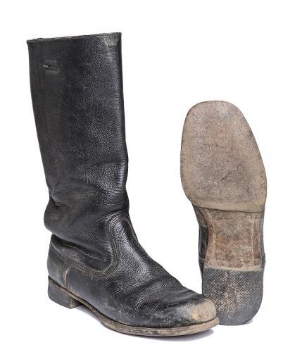 NVA leather jackboots, old model, surplus