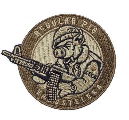 Varusteleka Regular Pig patch, subdued, velcro