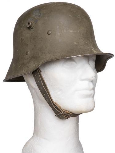 Finnish Austro-Hungarian M17 steel helmet, surplus