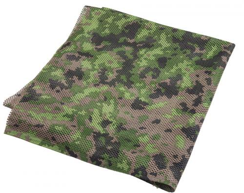 Foxa PES Net 260 Camo Mesh Fabric, M05 Woodland, by the metre