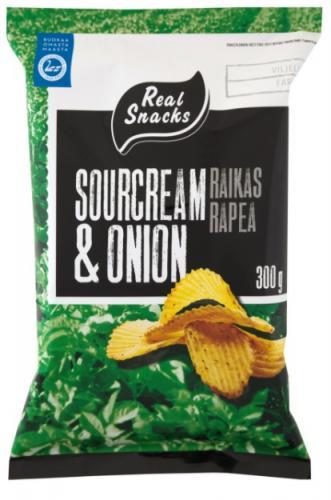 Real Snacks crisps, 100g