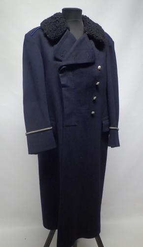 Finnish police greatcoat with fur collar