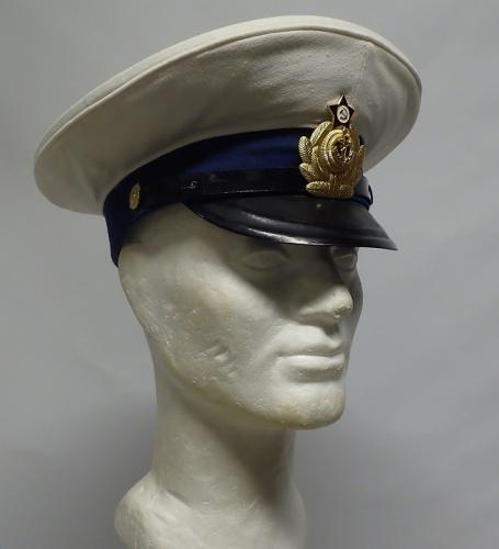 Soviet visor hat, white, surplus