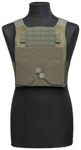 Särmä TST PC18 Plate Carrier. The One-Wrap loops can be folded and secured behind the carrier when not in use.