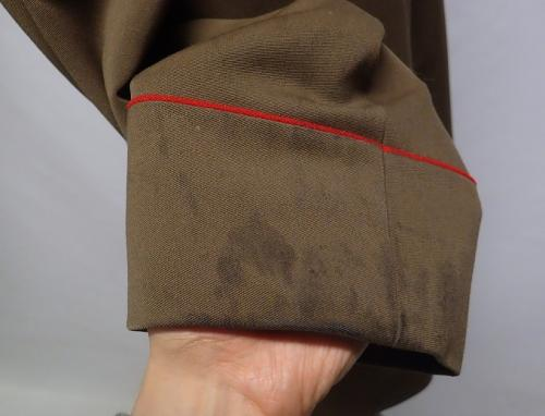 Soviet officer's coat, Major General. The coat has some stains like this here and there.