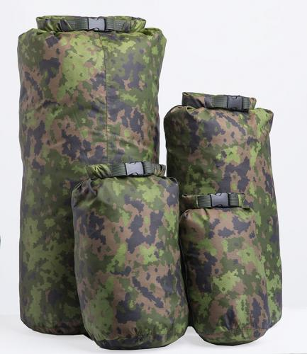 Särmä TST Dry Bag. Back: 40L and 20L. Front: 10L and 5L.