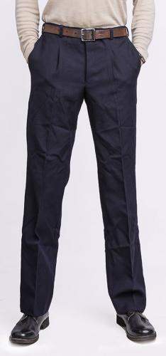 Italian navy trousers, wool gabardine, navy blue, surplus