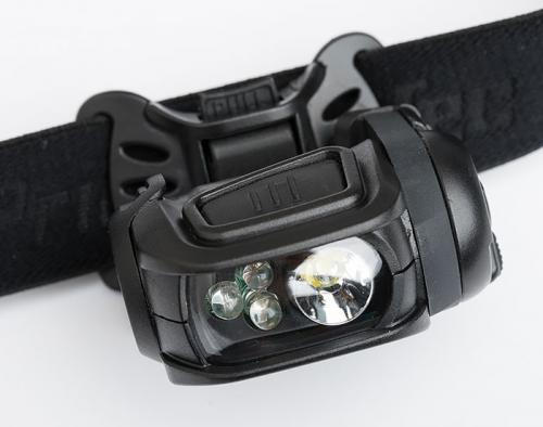 Princeton Tec Remix Pro MPLS headlamp. Large operating button for simplicity