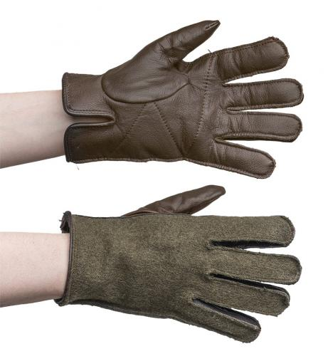 French wool/leather gloves, surplus