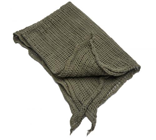 Belgian scrim scarf, olive drab, surplus