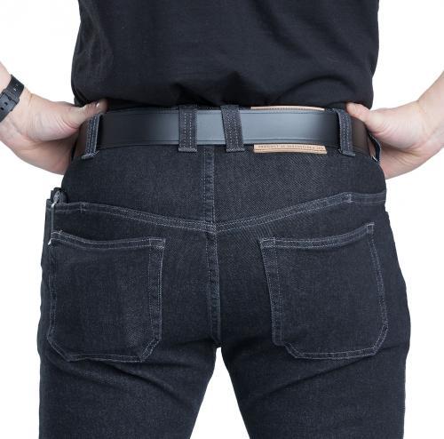 36 pcs Dark Blue Denim Jeans Rectangular cover size 50 mm