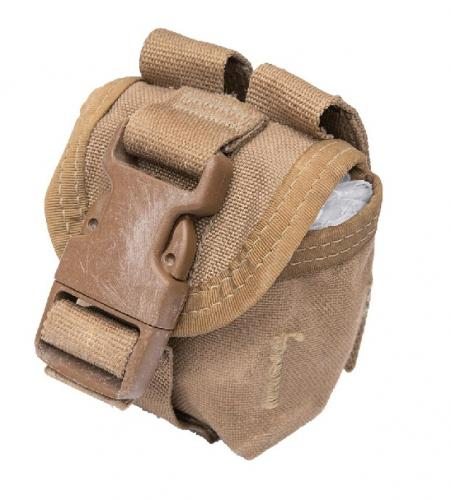 USMC MOLLE hand grenade pouch, Coyote Brown, surplus