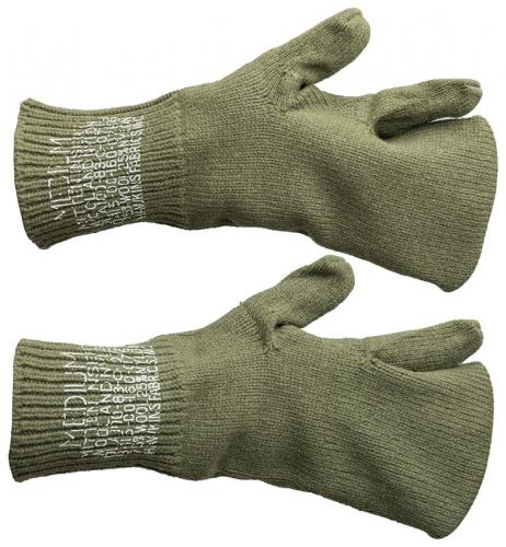 US M-1943 mitten liners, wool, olive, surplus