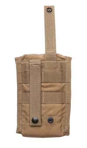 USMC MOLLE Optical Instrument Padded Case, Coyote Brown, surplus. The usual MOLLE/PALS attachment.