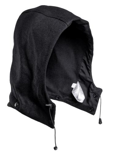 Särmä Wool Fleece Hood, black