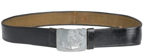 Soviet navy webbing belt, rubberized, surplus