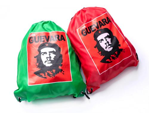 Cha Guevara drawstring bag, surplus. Available in two colours depending on your position between eco-fascism and full-blown communism.