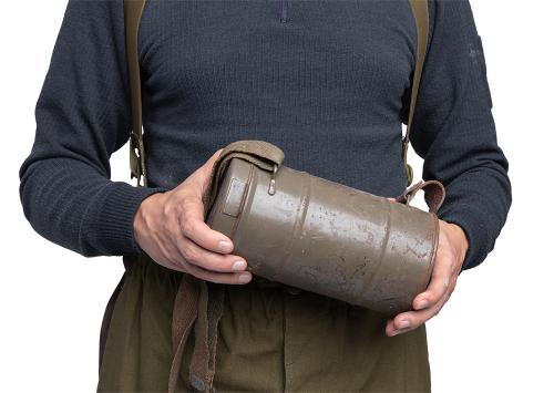 Finnish M32 gas mask canister, surplus.