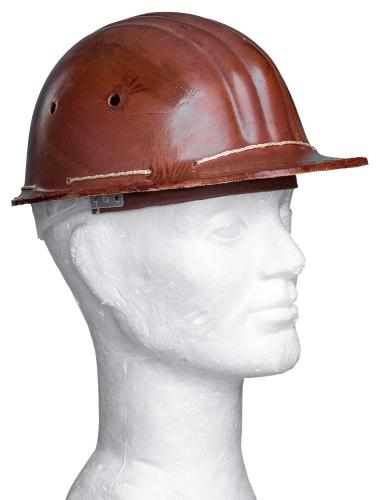 Soviet construction helmet, brown, surplus