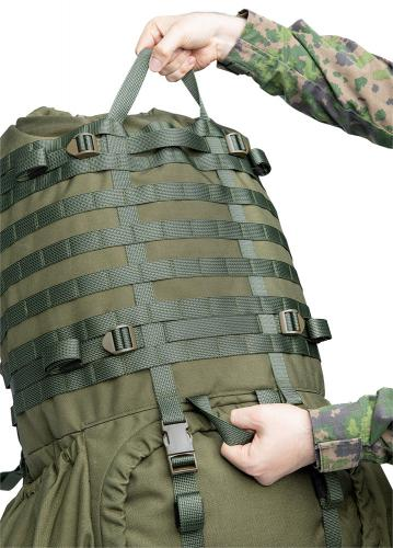 Särmä TST RP80 recon pack. Fixed carry handles of the main bag.