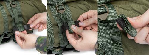 Särmä TST RP80 recon pack. Loose webbing ends come with a piece of Velcro One-Wrap for tidying up.