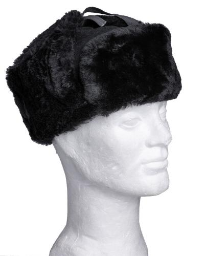 Latvian fur hat, black, unissued