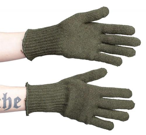 US wool glove inserts, olive drab, surplus
