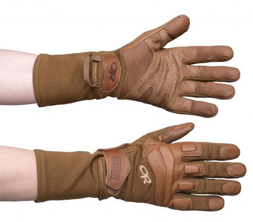 Outdoor Research Firemark Gauntlet Gloves, coyote, surplus
