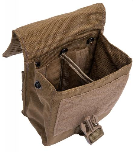 Eagle Industries FSBE M-60 Ammo Pouch, Coyote Brown, surplus. Stiff divider with flexible mounting options.