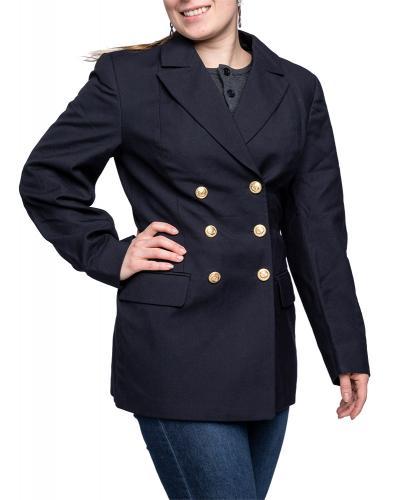 Bundesmarine women's pea coat, dark blue, surplus