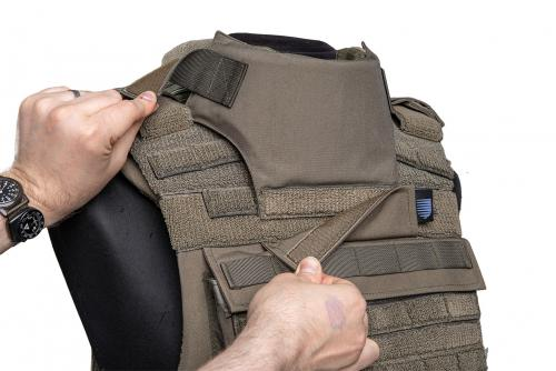 Sioen Tacticum Throat Protection, NIJ IIIA. Attaches properly to a vest which has Neck and Shoulders protection already attached.