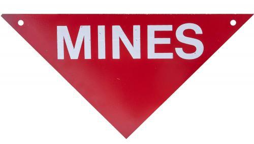 US metal mine danger sign, surplus
