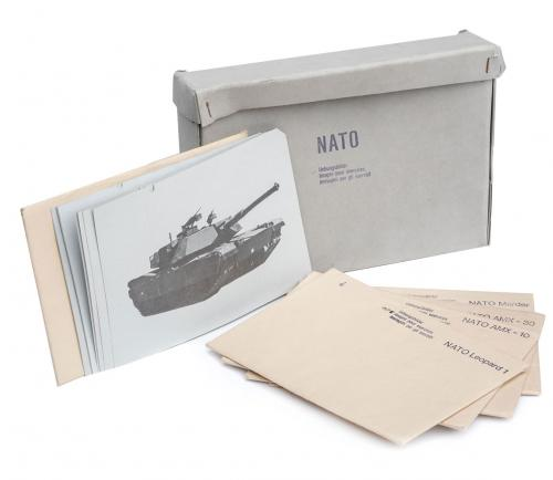 Swiss tank identification card set, surplus