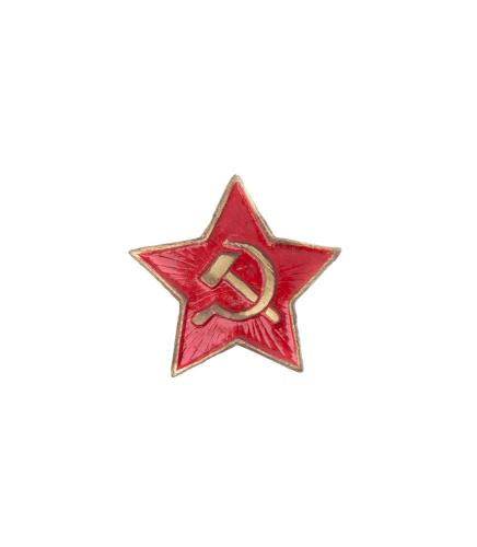 Soviet enlisted mens red star cockade, old model, full colour, surplus