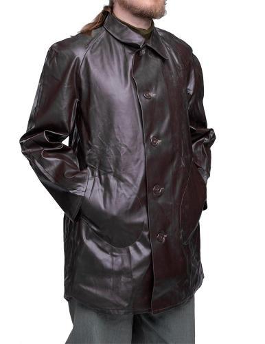 Czechoslovakian motorcycle rain jacket, brown, surplus