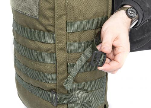 Särmä TST CP15 Combat pack. Security and compression straps with G-hooks.