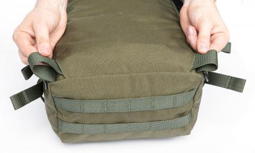 Särmä TST CP15 Combat pack. The hip belt can be stowed away.